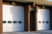 Ribbed steel commercial sectional doors