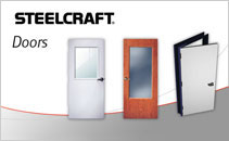 Commercial steel entry doors and door frames