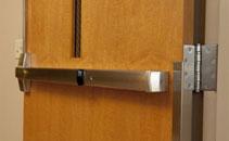 Commercial steel entry door hardware