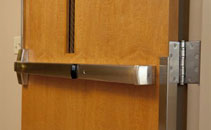 Commercial steel entry door hardware