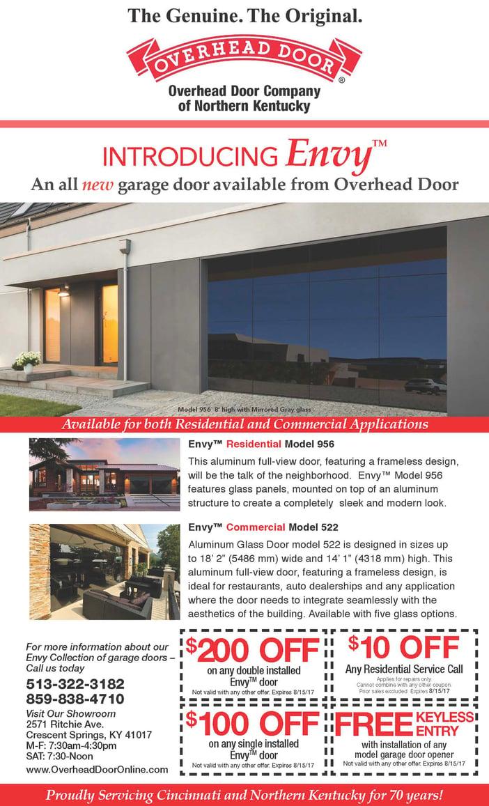 Overhead Door Envy Collection Garage Doors