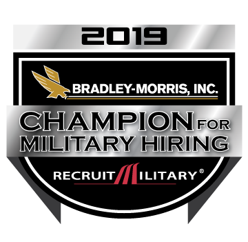 Champion For Military  Hiring Badge