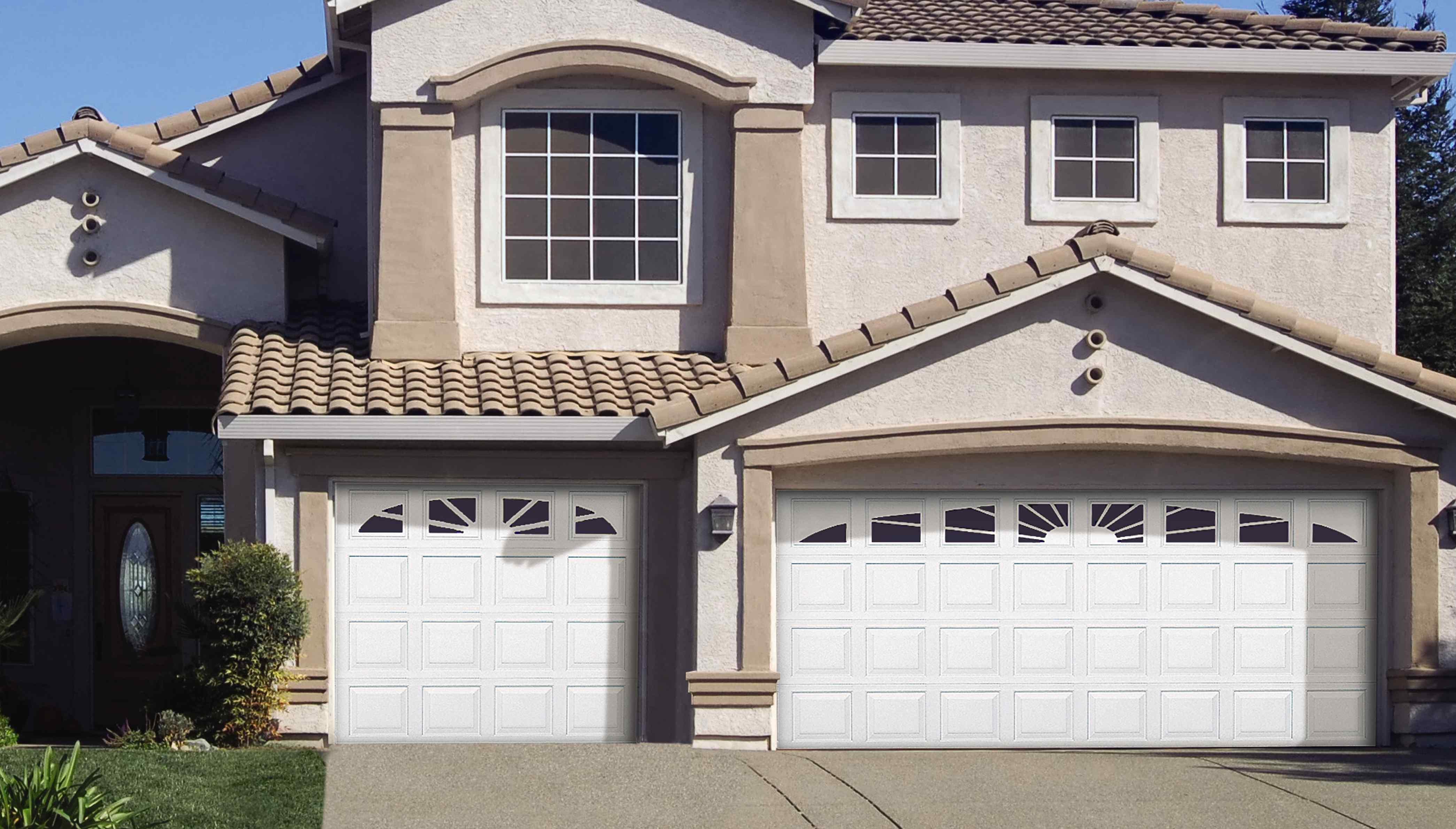 Durafirm Collection durable PVC vinyl exterior garage doors - residential