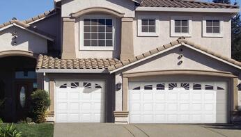 Durafirm Collection durable PVC vinyl exterior garage doors - residential