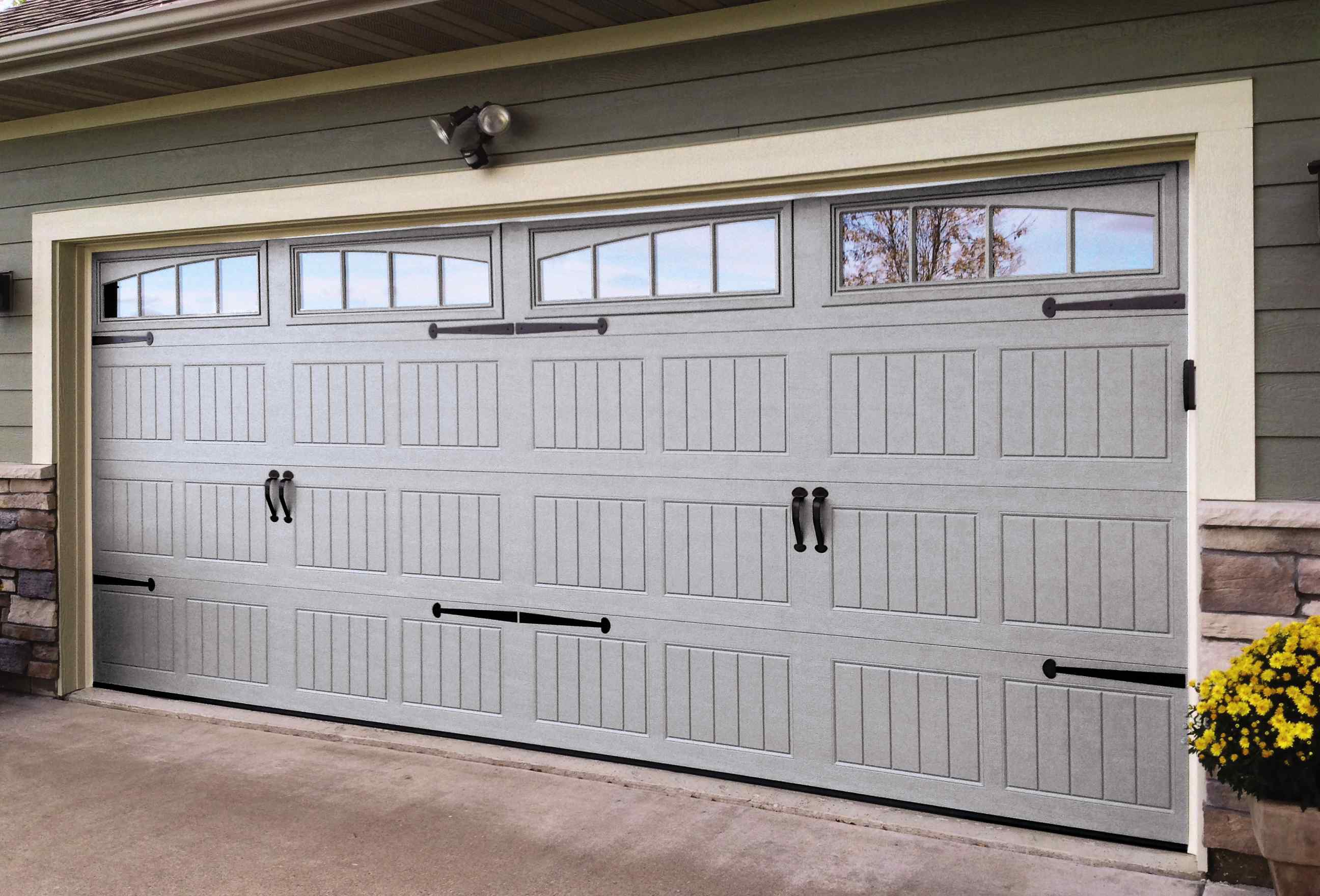 Thermacore Series energy-efficient steel insulated garage doors - residential