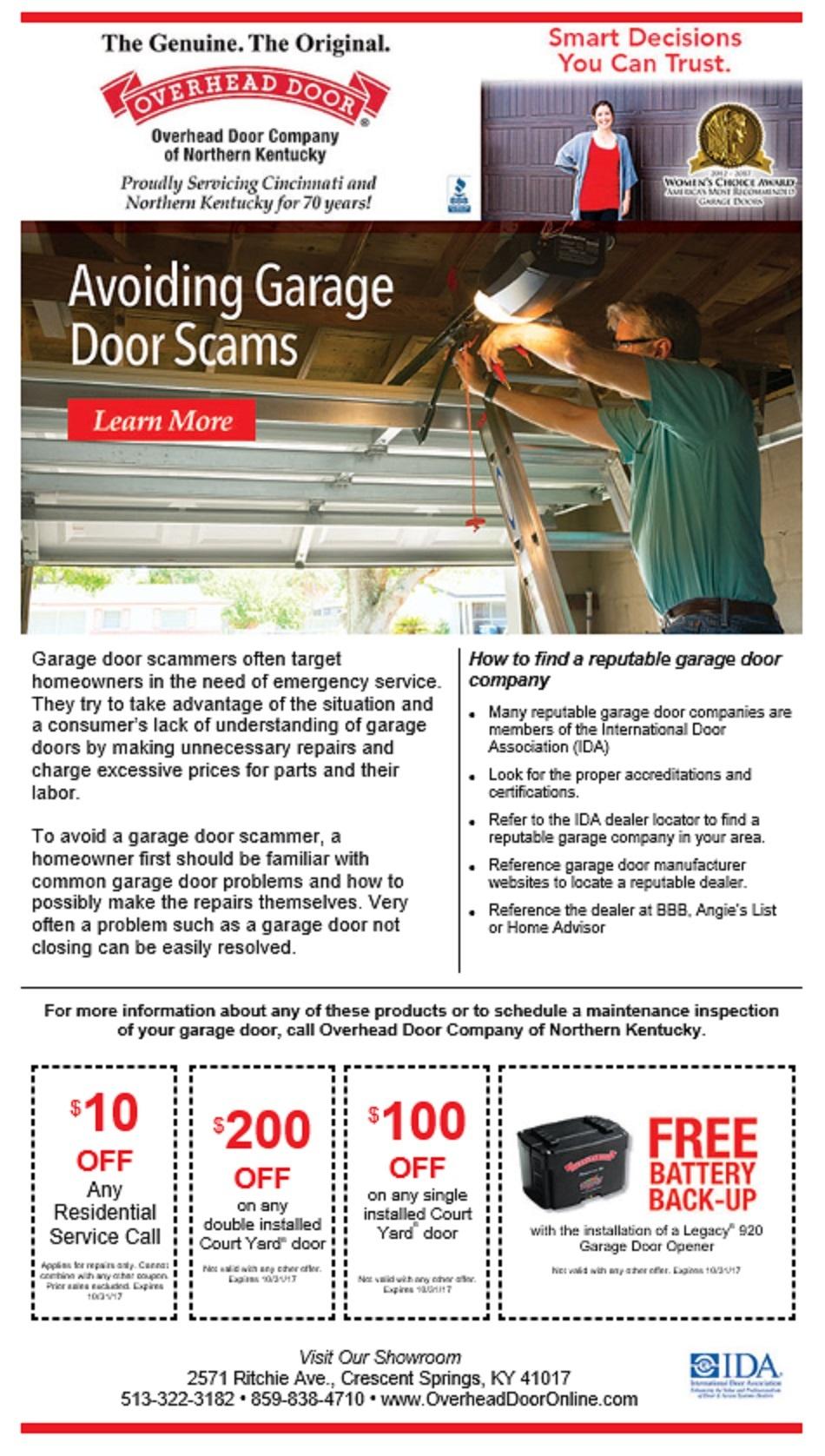 How To Avoid Garage Door Scams