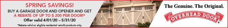 Overhead Door Spring Savings Promotion