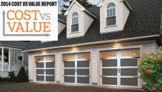 Replacing a garage door increases the value of a home