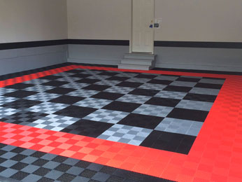 Our garage flooring solutions install in hours instead of days, enabling you to quickly improve the look and the performance of your garage space.