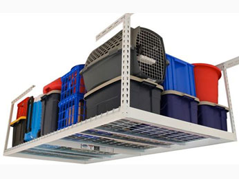 overhead garage storage rack solutions for an organized garage space