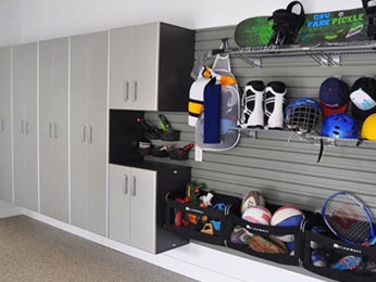 Neatly organize and store even bulky sports equipment with garage storage solutions that fit your family's needs.