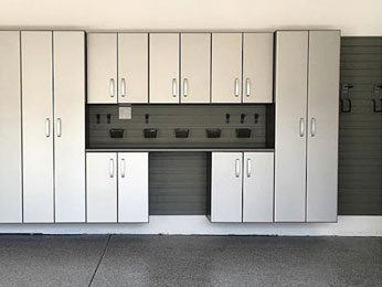 A variety of sizes in garage storage cabinets helps create a solution that maximizes your garage's potential for storage.