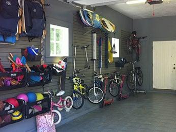 streamlined organized garage storage solutions – hook-based storage system