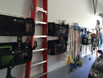 organize even hard-to-manage items with a streamlined wall storage solution for your garage
