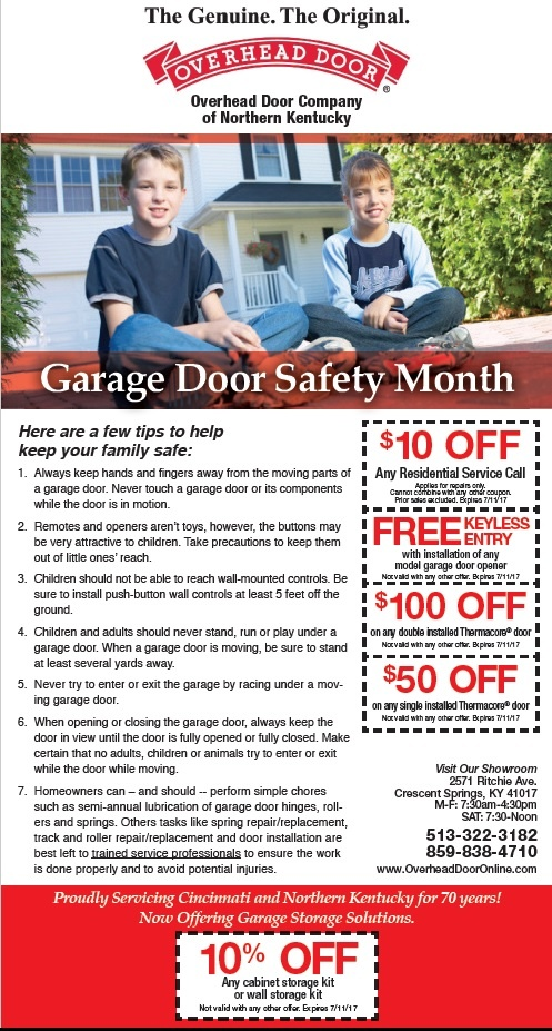 June is Garage Door Safety Month