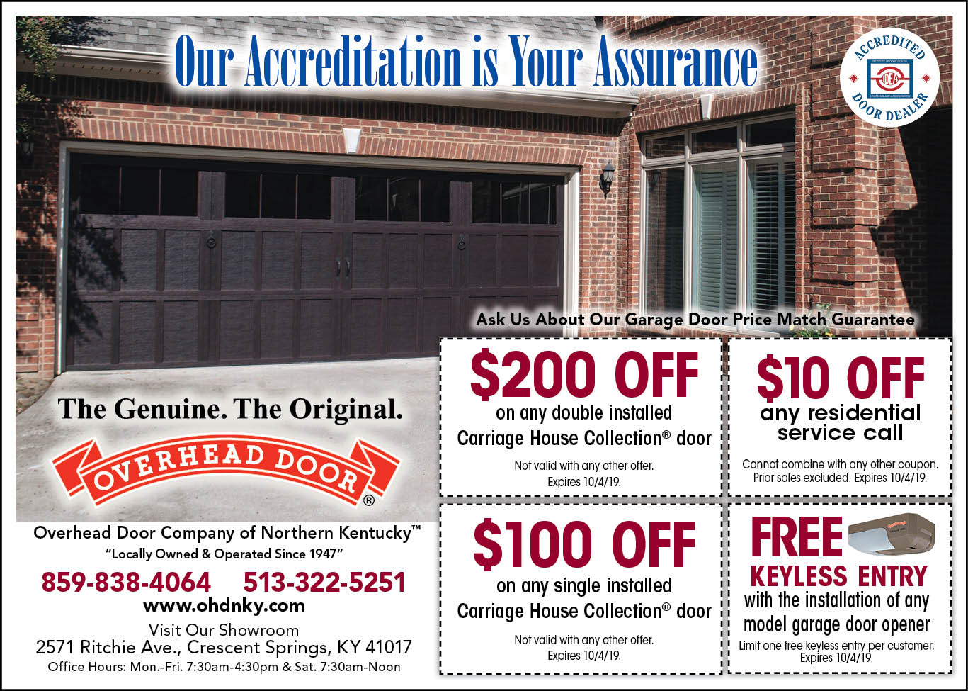 September garage door coupon offers