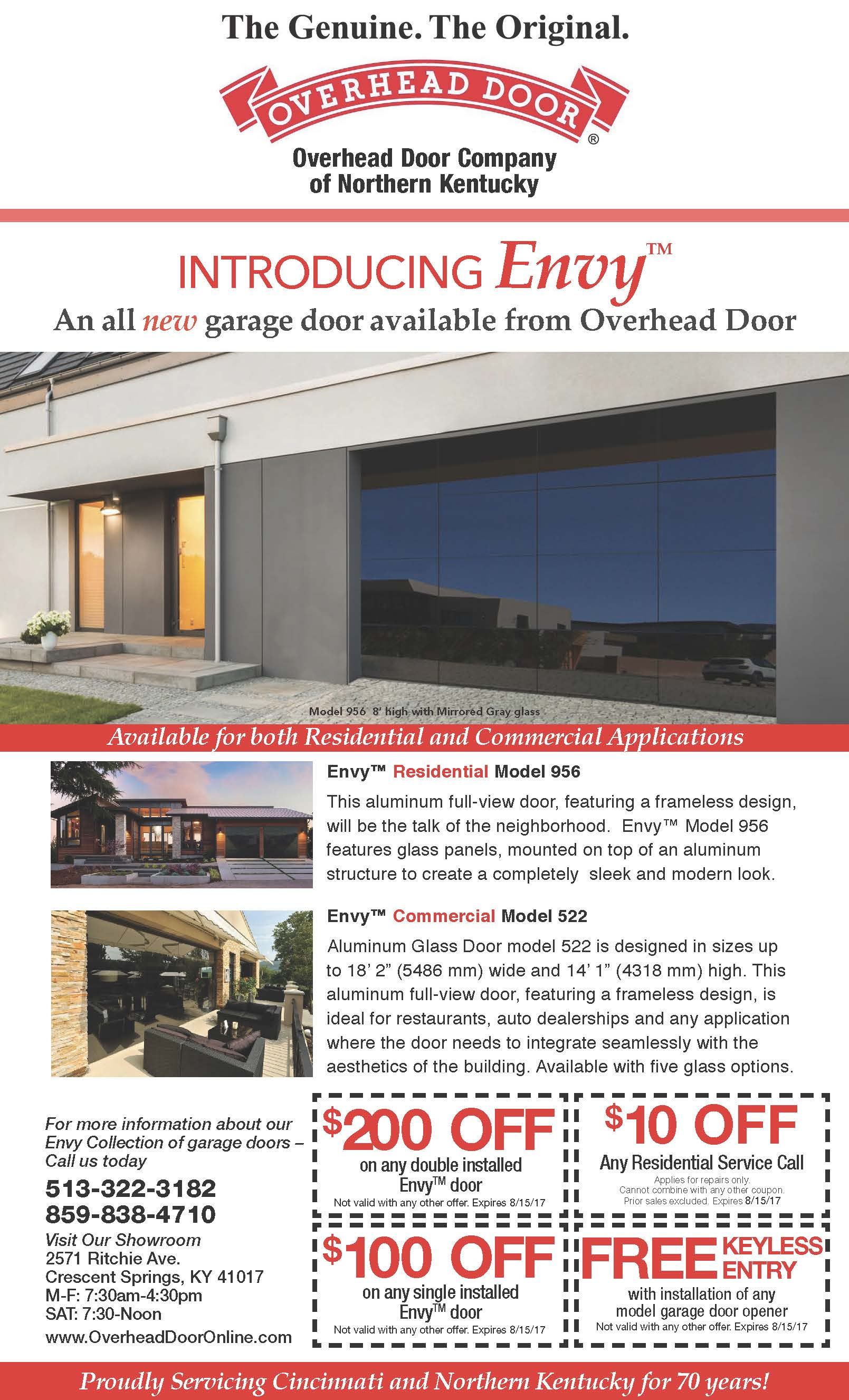 Overhead Door Introduces Envy