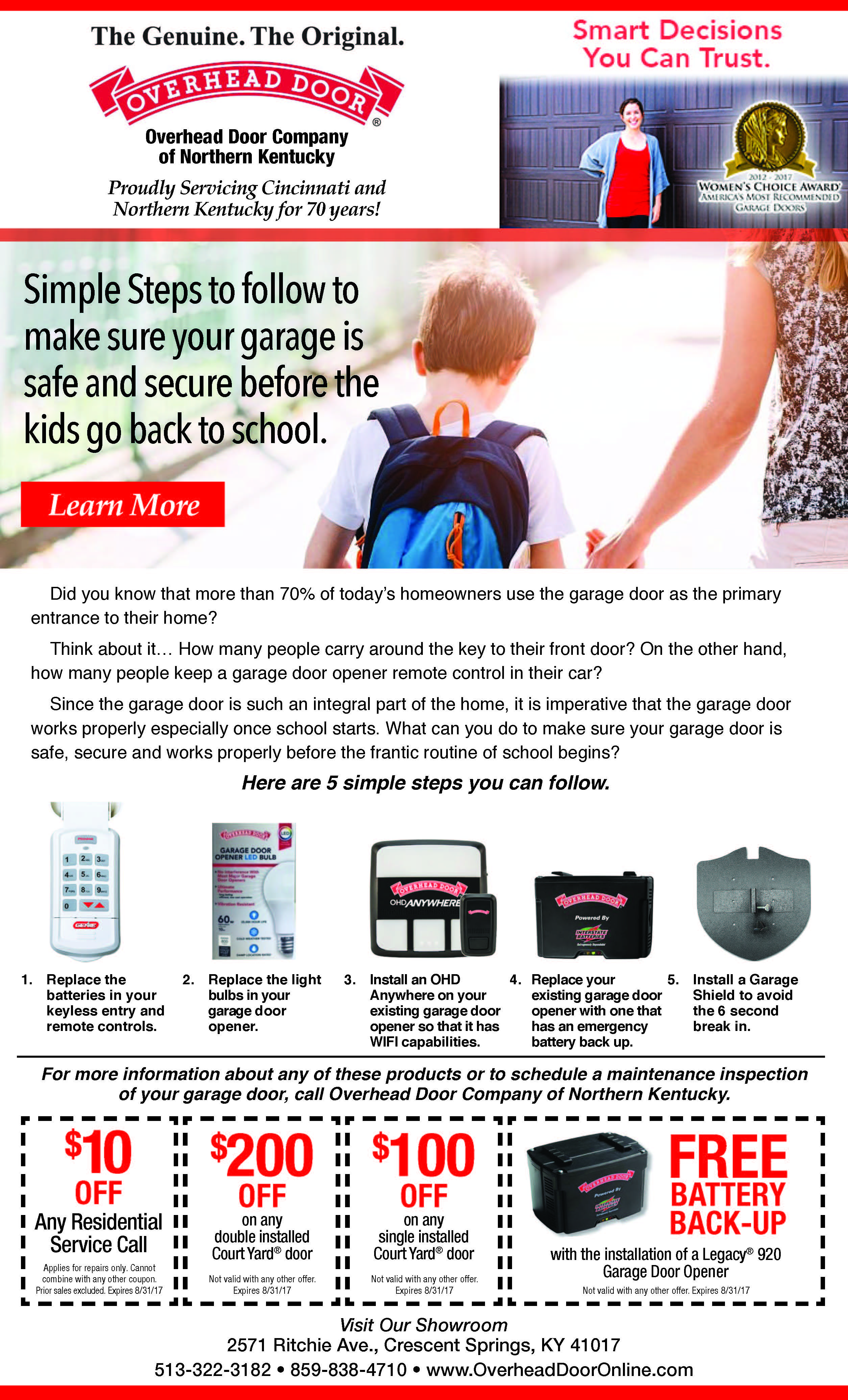 How to Make Your Garage Door Safe and Secure Before School Starts
